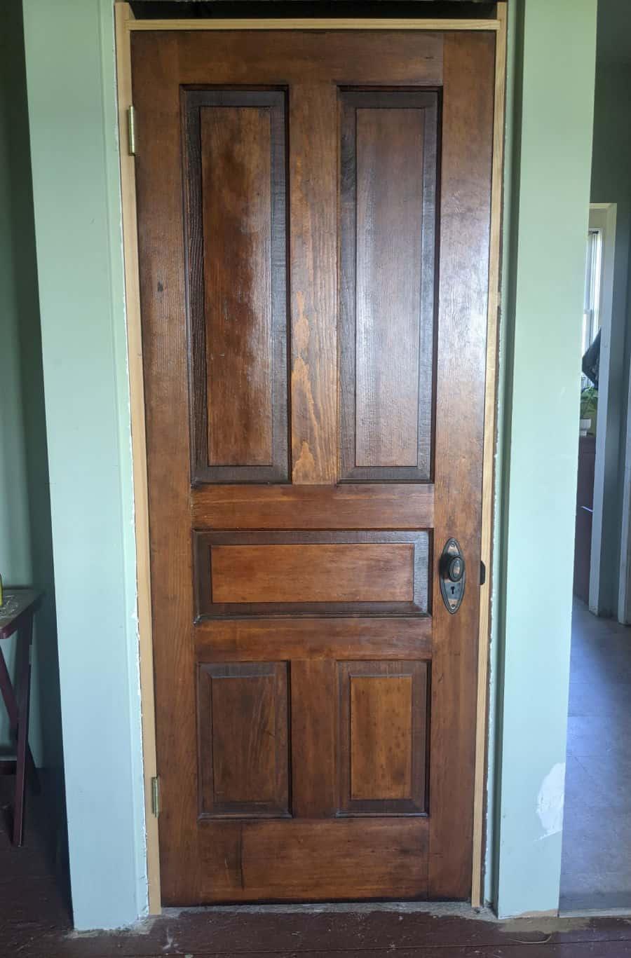 Beautiful reclaimed antique pine door