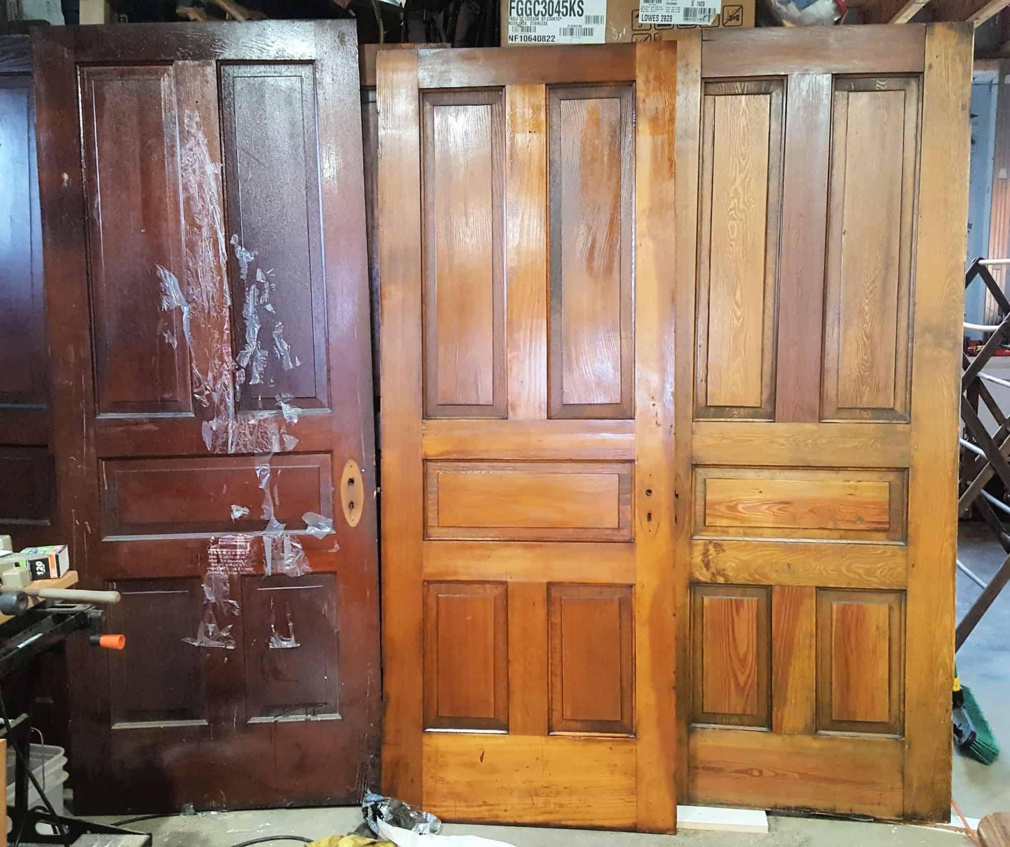 Three antique doors