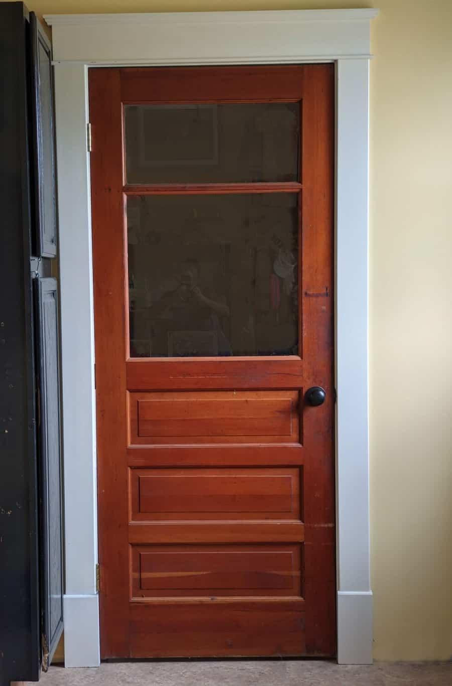 antique pine school door