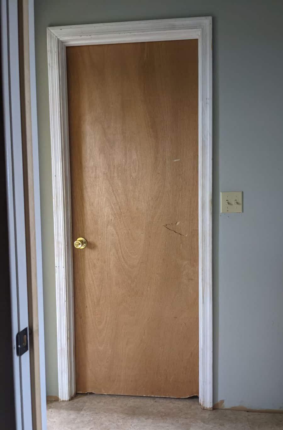 Plain, plain, plain lauan door