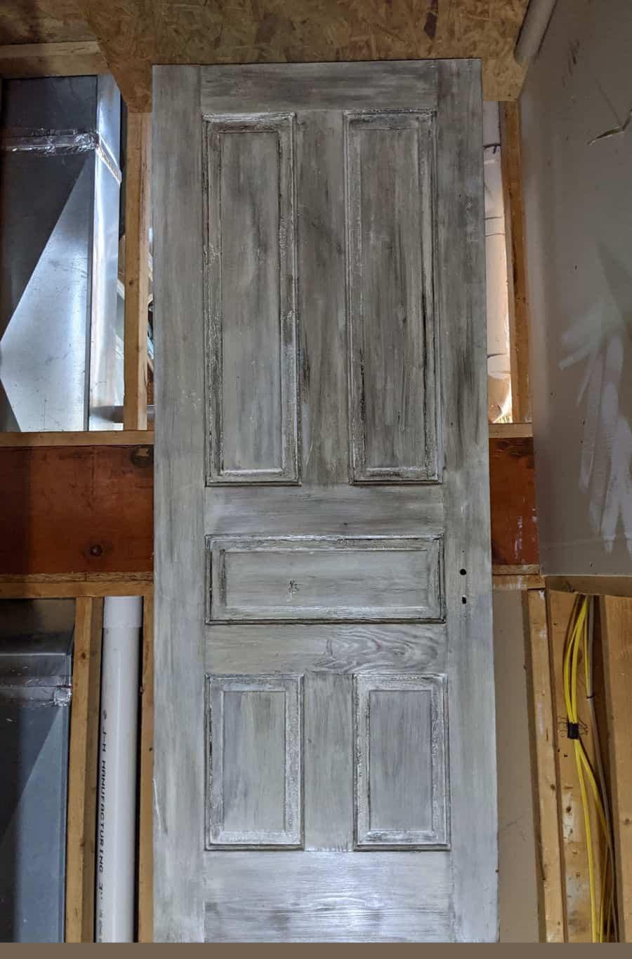 painted, reclaimed door